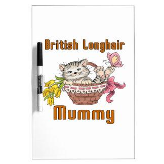 British Longhair Cat Mom Dry Erase Board