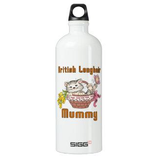 British Longhair Cat Mom Water Bottle