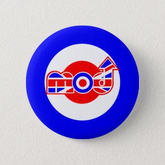 British Mod Scooter design 2 Inch Round Button