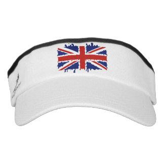 British paint flag visor