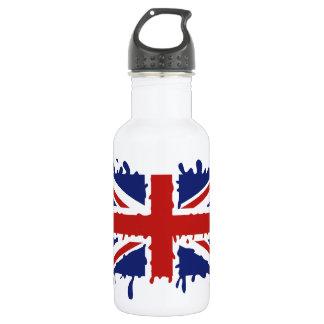 British paint splash flag 532 ml water bottle