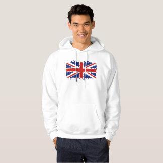 British paint splash flag hoodie