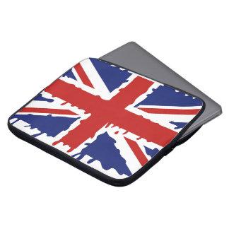 British paint splash flag laptop sleeve