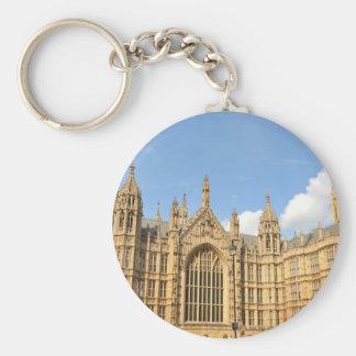 British Parliament Basic Round Button Keychain
