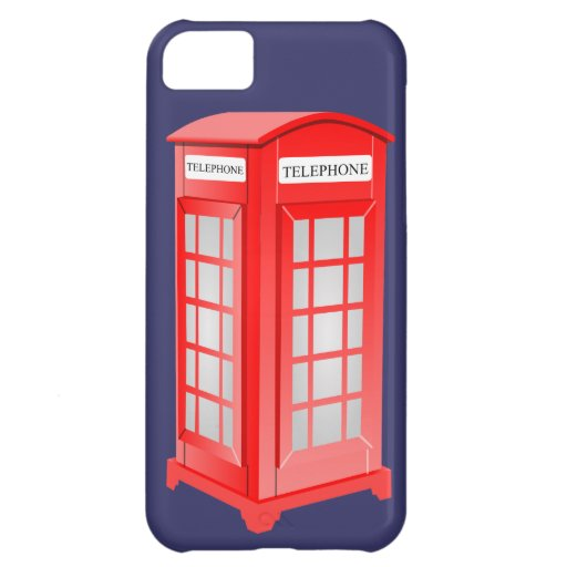 British Phone booth Case For iPhone 5C