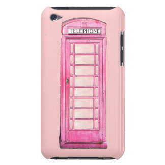 British phone booth - pink ipod case barely there iPod cases