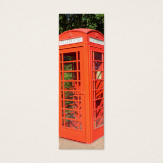 BRITISH PHONE BOOTH PROFILE CARD