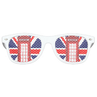 British phone box Union Jack flag Party Sunglasses