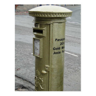 British pillar box - George VI Postcard