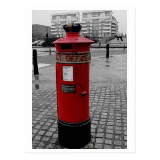 British Pillar box - Liverpool Special 1853 Postcard