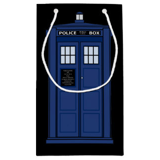 British Police Box - SciFi Geek Gift Public Call Small Gift Bag