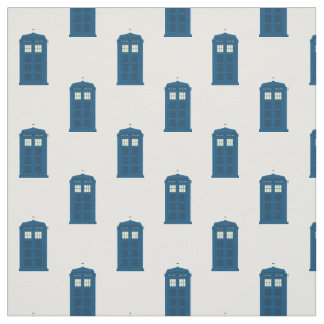 British Police Call Box Fabric