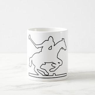 British Polo Sport Horse Player Silhouette Ponies Basic White Mug