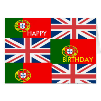 BRITISH-PORTUGUESE GREETING CARD
