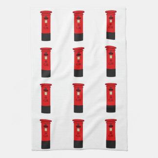 British Post Box Hand Towel
