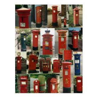 British postboxes postcard