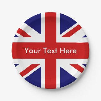 British Pub Union Jack Paper Plate