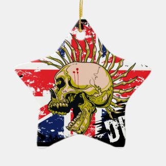 British Punk Not Dead Ceramic Star Ornament