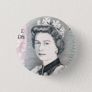 British Queen Elizabeth 2 1 Inch Round Button