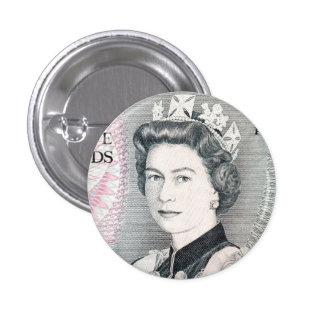 British Queen Elizabeth 2 1 Inch Round Button