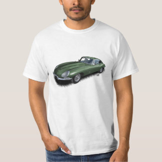 British Racing Green Jaguar XKE Sports Car T-Shirt