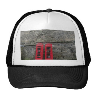 British Red Phone Boxes at Edinburgh Castle Trucker Hat