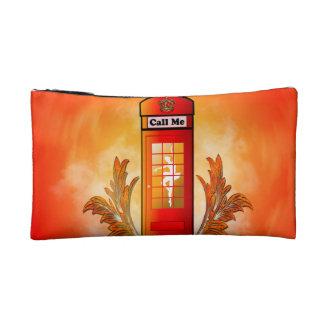 British red telephone box makeup bags