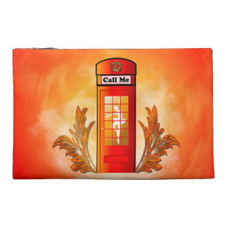 British red telephone box travel accessories bags