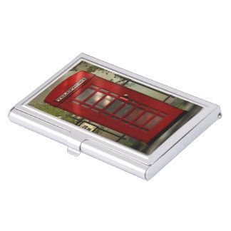 British Red Telephone Box Business Card Holders