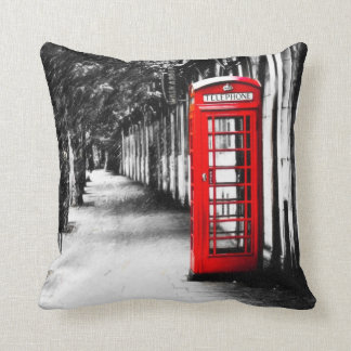 British Red Telephone Box from London Throw Pillow