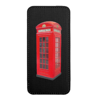 British red telephone box. iPhone pouch