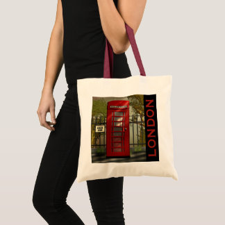 British Red Telephone Box London Tote