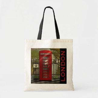 British Red Telephone Box London Tote Tote Bag