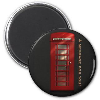 British Red Telephone Box Message Magnet