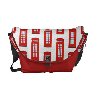 British Red Telephone Box Pattern Commuter Bag