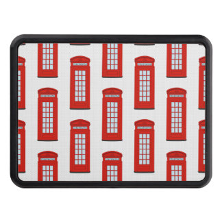 British Red Telephone Box Pattern Tow Hitch Covers