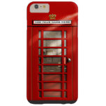 British Red Telephone Box Personalized Barely There iPhone 6 Plus Case