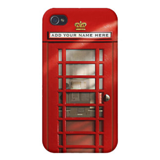 British Red Telephone Box Personalized iPhone 4/4S Case