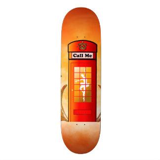 British red telephone box skateboard deck