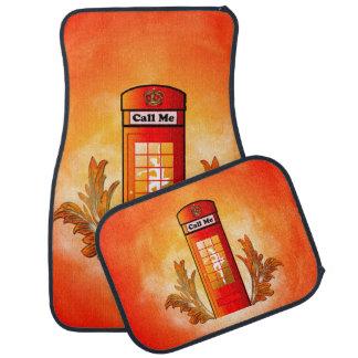 British red telephone box floor mat