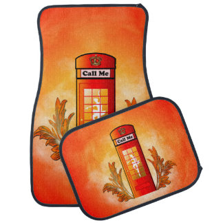 British red telephone box car mat
