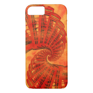 British Red telephone fractal spiral iphone 7 case
