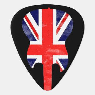 british rock / England flag Guitar Pick