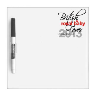 British Royal Baby Fever - Prince George Dry Erase Whiteboards