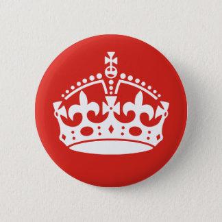 British Royal Crown 2 Inch Round Button
