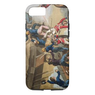 British Sailors Boarding a Man of War, engraved by iPhone 7 Case