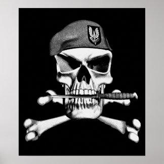 British SAS Skull Poster
