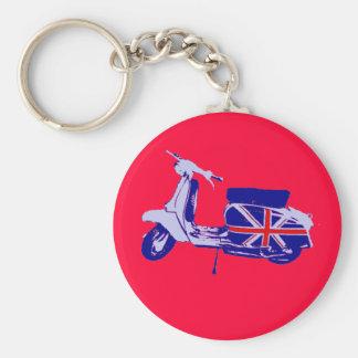 British scooter basic round button keychain