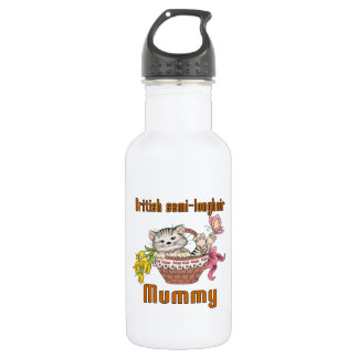 British semi-longhair Cat Mom 532 Ml Water Bottle