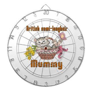 British semi-longhair Cat Mom Dart Board